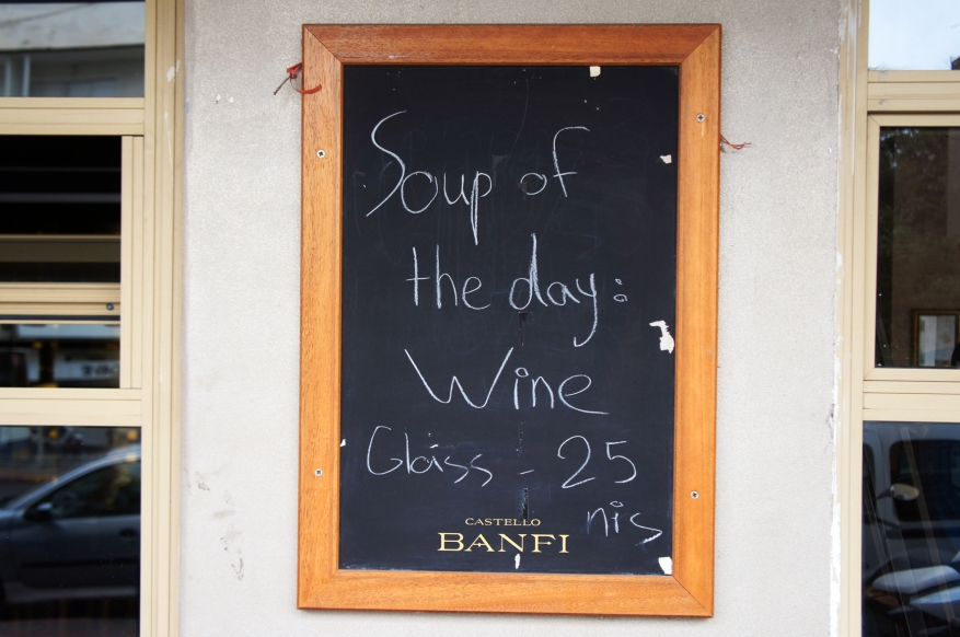 Soup of the day. Photo by Simon Wilder