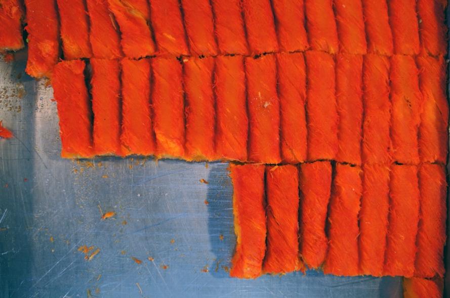 Orange baklave at Carmel Market. Photo by Simon Wilder