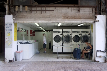 The launderette on Diezengoff Square. Photo by Simon Wilder