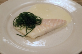 Turbot, whey butter and monk's beard at Lyle's. All photos by Simon Wilder