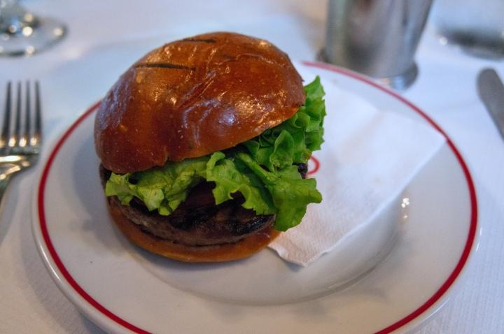 A burger at Joe Allen. Photo by Simon Wilder